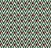 Green and White Horizontal Chevron Striped with Polka Dots Backg — 图库照片