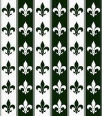 Hunter Green and White Fleur De Lis Textured Fabric Background — Stock Photo