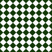 Dark Green and White Diagonal Checkers on Textured Fabric Backgr — Stock Photo