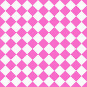 Pink and White Diagonal Checkers on Textured Fabric Background — Stock Photo