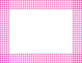 Pink Gingham Frame — Stock Photo