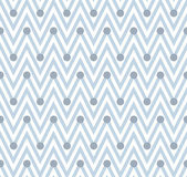 Pale Blue and White Horizontal Chevron Striped with Polka Dots B — 图库照片