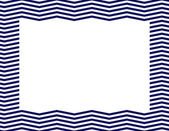 Navy Blue Chevron Frame — Stock Photo