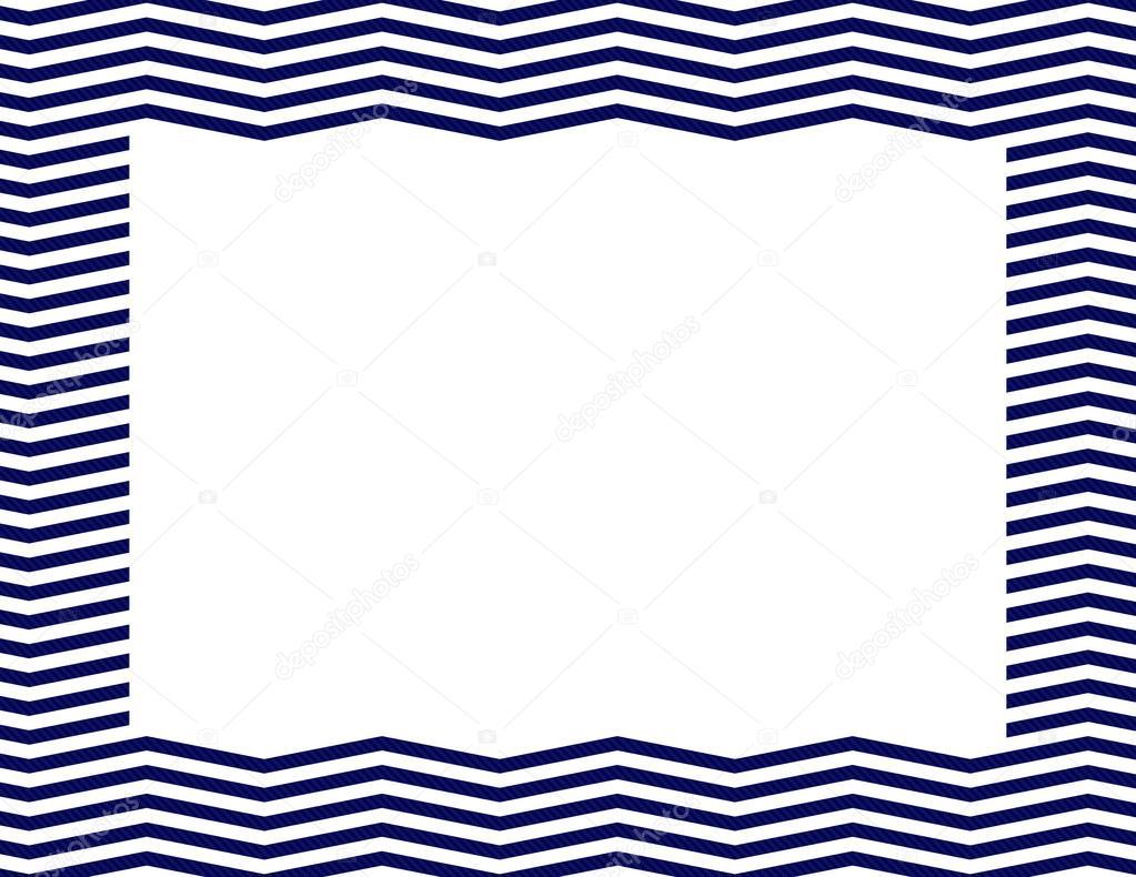 海军蓝色雪佛龙框架背景与隔离副本空间,海军蓝色雪佛龙车架的中心—