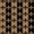 Black and Beige Fleur De Lis Textured Fabric Background — Stock Photo