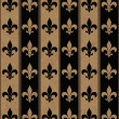 Black and Beige Fleur De Lis Textured Fabric Background — Stock Photo #38412763
