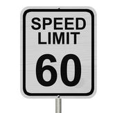 Speed Limit 60 Sign — Stock Photo