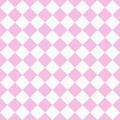 Pale Pink and White Diagonal Checkers on Textured Fabric Backgro — Stock Photo