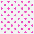 Bright Pink Polka Dots on White Textured Fabric Background — Stock Photo