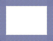 Navy Blue and White Checkered Frame — Stock Photo