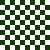 Hunter Green and White Checkers on Textured Fabric Background — Stock Photo