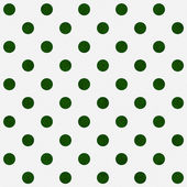 Bright Green Polka Dots on White Textured Fabric Background — Stock Photo