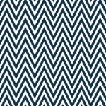 Thin Navy Blue and White Horizontal Chevron Striped Textured Fab — Stock Photo