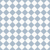 Pale Blue and White Diagonal Checkers on Textured Fabric Backgro — Stock Photo