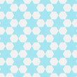 Teal and White Hexagon Patterned Textured Fabric Background — Stock Photo #38622625