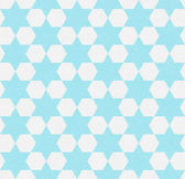 Teal and White Hexagon Patterned Textured Fabric Background — Stock Photo