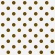 Gold Polka Dots on White Textured Fabric Background — Photo