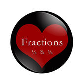 I Love Fractions button — Stock Photo