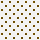 Gold Polka Dots on White Textured Fabric Background — Stock Photo