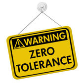 Zero Tolerance Warning Sign — Fotografia Stock