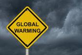 Warning of Global Warming Sign — Stock Photo