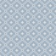 White and Pale Blue Fleur-De-Lis Pattern Textured Fabric Backgro — Stock Photo #38852203