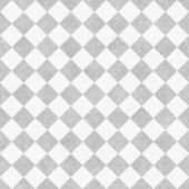 Pale Gray and White Diagonal Checkers on Textured Fabric Backgro — Stock Photo
