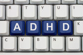 Finding Information about ADHD on the Internet — Stock Photo