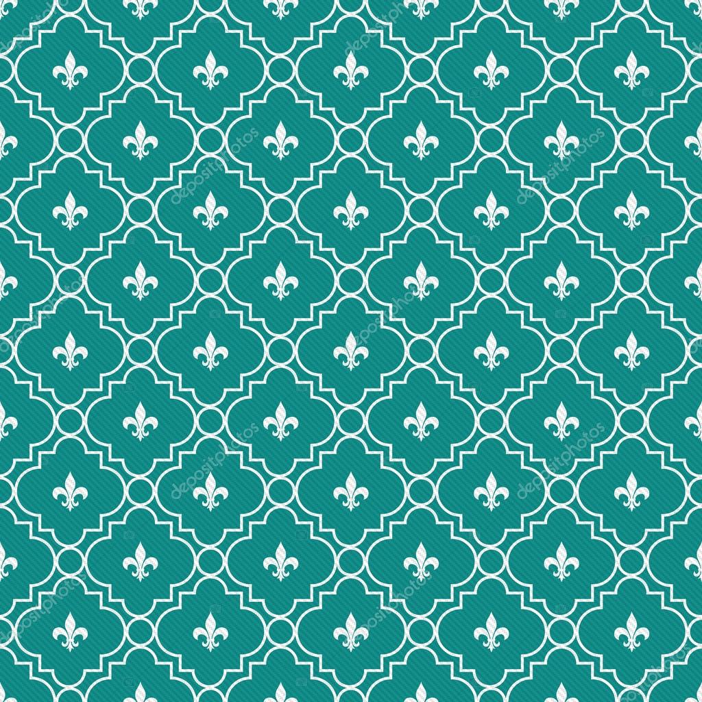 Teal and White Diamonds Tiles Pattern Repeat Background — Stock ...