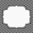 Stock Photo: Black and White Chevron Frame with Embroidery Background