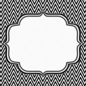Black and White Chevron Frame with Embroidery Background — Stock Photo