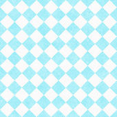 Pale Teal and White Diagonal Checkers on Textured Fabric Backgro — Stock Photo