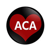 I Love ACA button — 图库照片