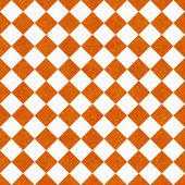 Orange and White Diagonal Checkers on Textured Fabric Background — Stock Photo