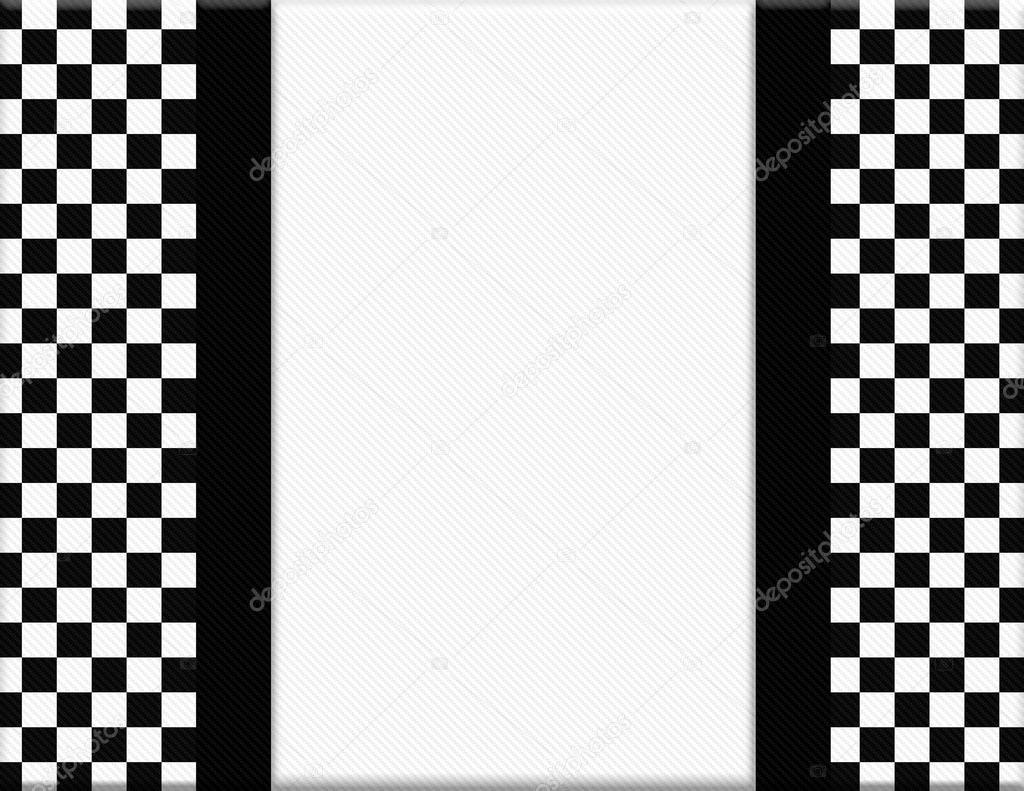 Marco a cuadros blanco y negro con el fondo de la cinta - Cuadros con marco blanco ...