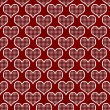 Stock Photo: Red and White Polka Dot Hearts Pattern Repeat Background