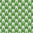 Stock Photo: Green MarijuanLeaf Pattern Repeat Background