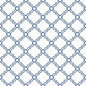 Blue and White Decorative Design Textured Fabric Background — Stock fotografie