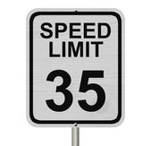 Speed Limit 35 Sign — Stock Photo