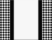 Black and White Checkered Frame with Ribbon Background — Foto de Stock