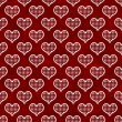 Red and White Polka Dot Hearts Pattern Repeat Background — Stock Photo #39250659