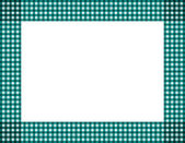 Teal Gingham Frame — Stock Photo