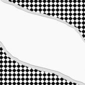 Black and White Diamond Checkered Frame with Torn Background — Foto de Stock