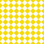 Yellow and White Diagonal Checkers on Textured Fabric Background — Stock Photo