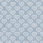 Blue and White Polka Dot Hearts Pattern Repeat Background — Stock Photo