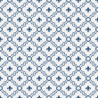 White and Blue Fleur-De-Lis Pattern Textured Fabric Background — Stock Photo #39789437