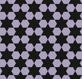 Purple and Black Hexagon Patterned Textured Fabric Background — Stock Photo