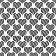 Black and White Chevron Hearts Pattern Repeat Background — Stock Photo #39853461