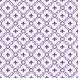 Stock Photo: White and Purple Fleur-De-Lis Pattern Textured Fabric Background