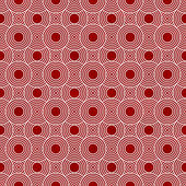 Red and White Circles Tiles Pattern Repeat Background — Stock Photo